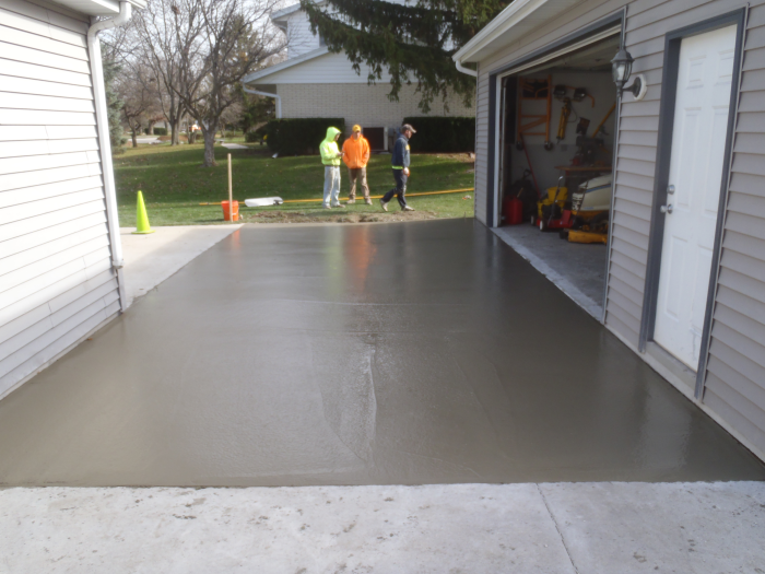 Types of projects for Pouring concrete driveway