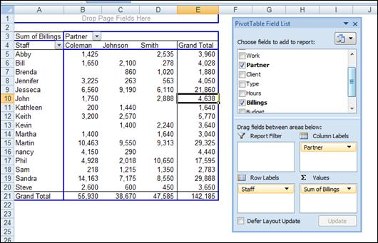 Advanced Excel Concepts